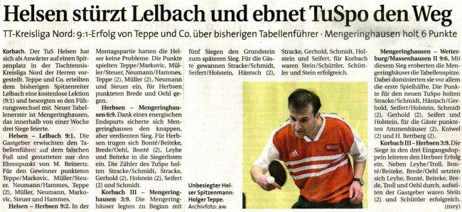 20090929 - WLZ - Helsen stürtzt Lelbach