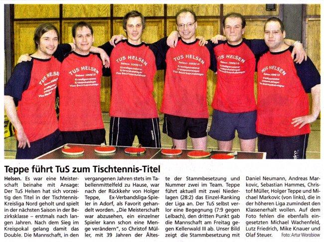 20100323 - WLZ - Aufstieg der 1. Herrenmannschaft